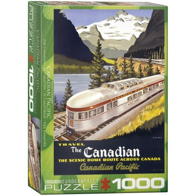 Casse-tête  Eurographics Travel the Canadian 1000