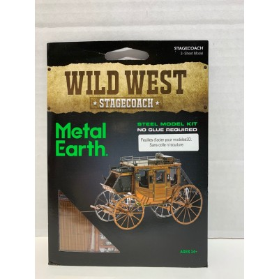 WILD WEST - STAGECOACH - METAL EARTH