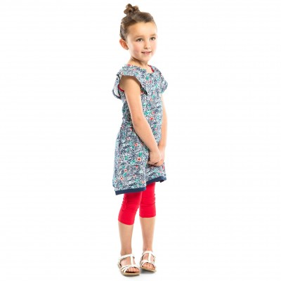 ROBE NANO COLLECTION DOUCEUR TROPICALE 2 À 4 ANS IMPRIMÉ FLEURI