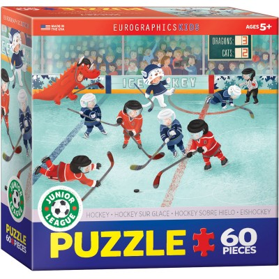 CASSE-TÊTE EUROGRAPHICS KIDS- 60 PCS-HOCKEY