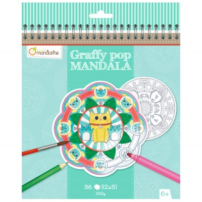 COLORIAGES MANDALA AVENUE MANDARINE