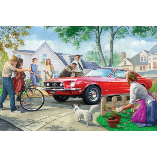 CASSE-TÊTE EUROGRAPHICS- 1000 PCS-THE RED PONY
