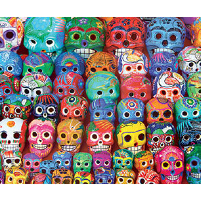 CASSE-TÊTE EUROGRAPHICS- 1000 PCS- TRADITIONNAL MEXICAN SKULLS