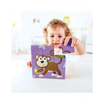 BLOCS PUZZLE ANIMAUX DE LA JUNGLE HAPE