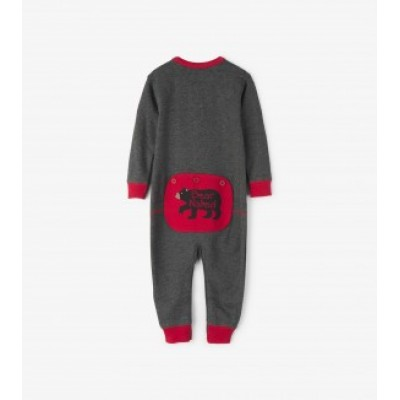 PYJAMA BEAR NAKED ON CHARCOAL  LITTLE BLUE HOUSE ONE PIECE BÉBÉ