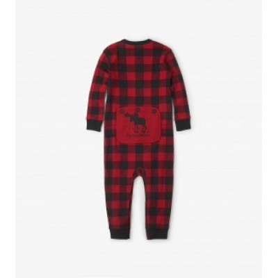 PYJAMA PLAID ROUGE  LITTLE BLUE HOUSE ONE PIECE BÉBÉ