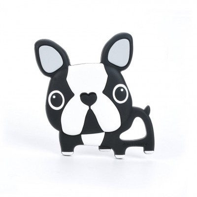 JOUET DE DENTITION BOSTON TERRIER NOIR LOULOU LOLLIPOP
