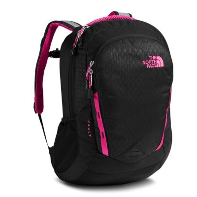 SAC À DOS THE NORTH FACE VAULT FEMME NOIR ET ROSE 28L
